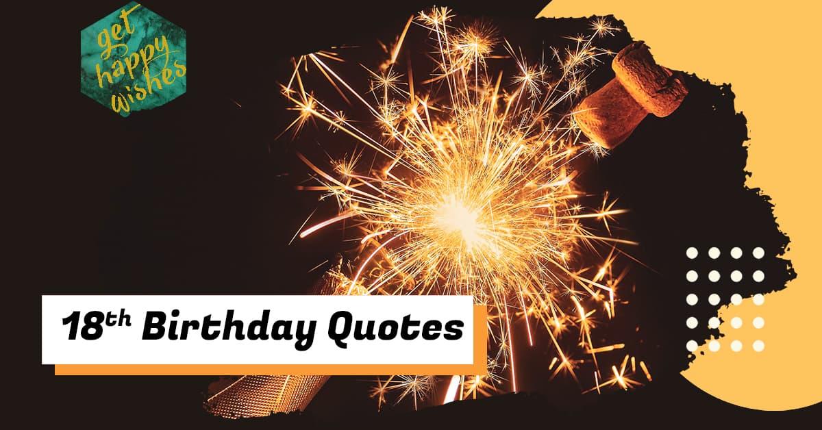 Happy 18th Birthday Quotes